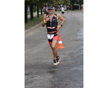 On charity auction Metria got the participative right to wear race No.1. at IRONMAN 70.3 Budapest in 2015.